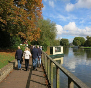 15min walk along the Avon River to the city centre